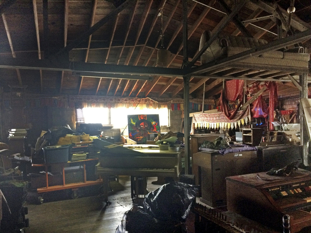 """This 2014 photo provided by Ajesh Shah shows the interior of a portion of the """"Ghost Ship"""" warehouse. Dozens of people have died at a party after a fire that started late Friday, Dec. 2, 2016. (Aj ..."""