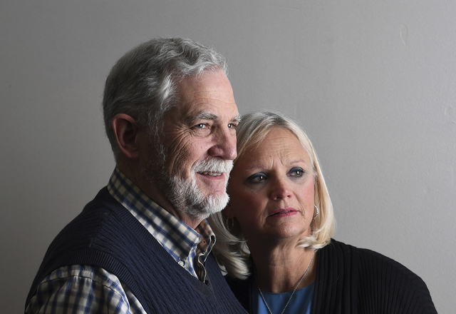 In this photo provided by The Washington Post, taken Dec. 12, 2016, Harry and Terri Welch pose for a portrait at Public Defender Services in Washington. Their son, Edgar Maddison Welch was arreste ...