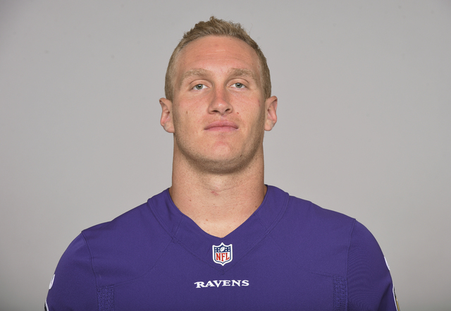 This is a 2015 file photo showing Konrad Reuland of the Baltimore Ravens NFL football team. The Baltimore Ravens say former tight end Konrad Reuland has died at the age of 29 following a brain ane ...