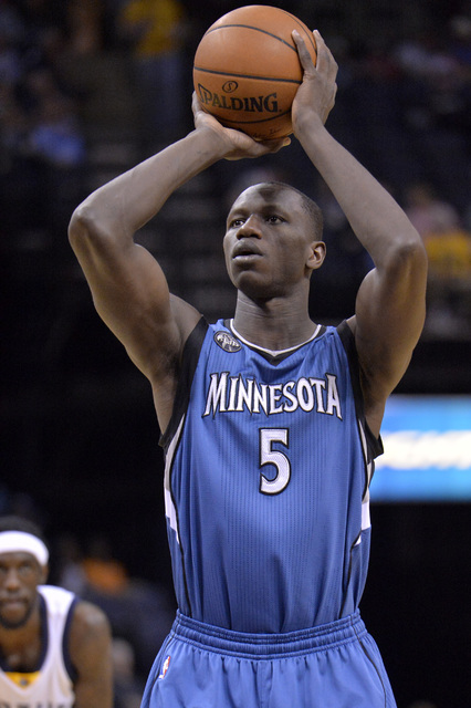 This is a Wednesday, March 16, 2016,  file photo of Minnesota Timberwolves, Gorgui Dieng, from Senegal plays in the first half of an NBA basketball game in Memphis, Tenn.  The NBA will open an aca ...