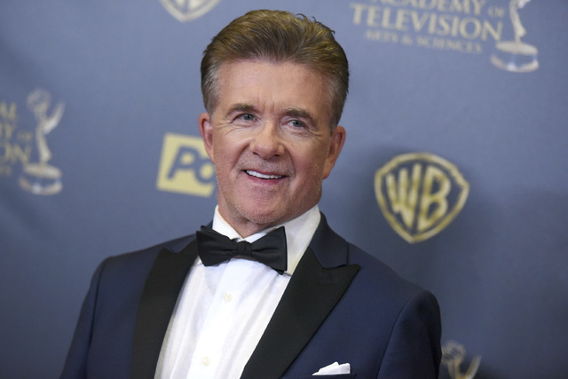 In this Sunday, April 26, 2015 file photo, Alan Thicke poses in the pressroom at the 42nd annual Daytime Emmy Awards at Warner Bros. Studios in Burbank, Calif. Alan Thicke's widow, Tanya Thicke, s ...