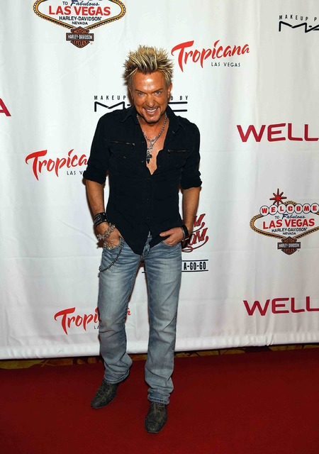Chris Phillips of Zowie Bowie attends opening night of Cherry Boom Boom at The Tropicana on Thursday, Sept. 29, 2016, in Las Vegas. (Denise Truscello/WireImage)