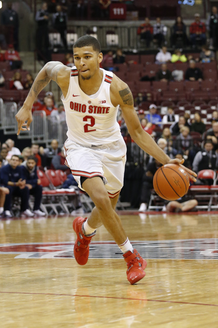 Ohio State's Marc Loving plays against Fairleigh Dickinson during an NCAA college basketball game Saturday, Dec. 3, 2016, in Columbus, Ohio. (Jay LaPrete/AP)