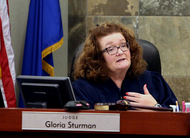 District Judge Gloria Sturman hears arguments to extend a freeze of client accounts of suspended probate attorney Robert Graham at the Regional Justice Center on Wednesday, Dec. 14, 2016, in Las V ...
