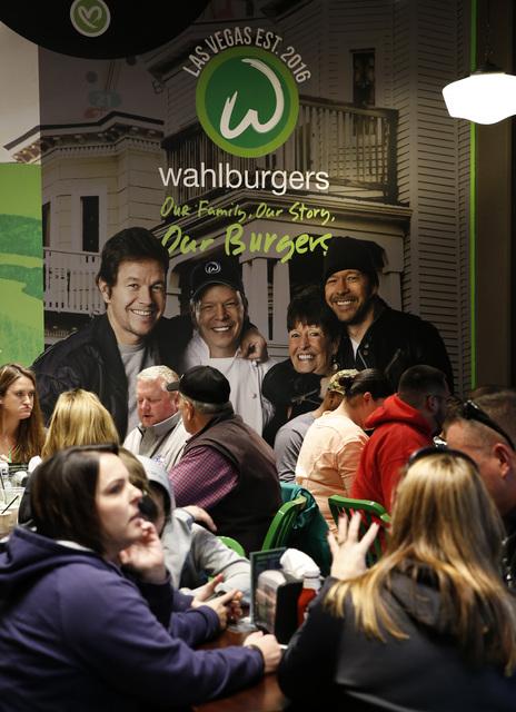 Wahlburgers at the Grand Bazaar Shops in Las Vegas on Friday, Dec. 2, 2016. (David Guzman/Las Vegas Review-Journal) @DavidGuzman1985