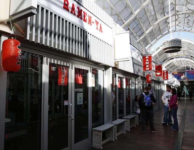Ramen-ya at the Grand Bazaar Shops in Las Vegas on Friday, Dec. 2, 2016. (David Guzman/Las Vegas Review-Journal) @DavidGuzman1985