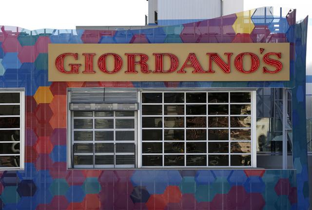 Giordano's signage at the Grand Bazaar Shops in Las Vegas on Friday, Dec. 2, 2016. (David Guzman/Las Vegas Review-Journal) @DavidGuzman1985