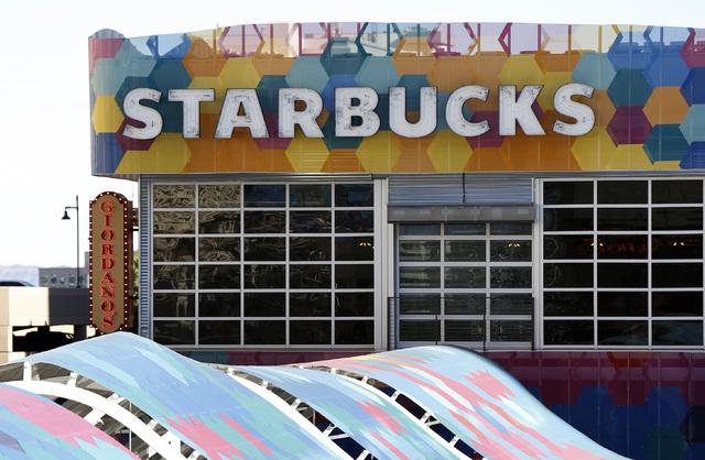 Starbucks signage at the Grand Bazaar Shops in Las Vegas on Friday, Dec. 2, 2016. (David Guzman/Las Vegas Review-Journal) @DavidGuzman1985