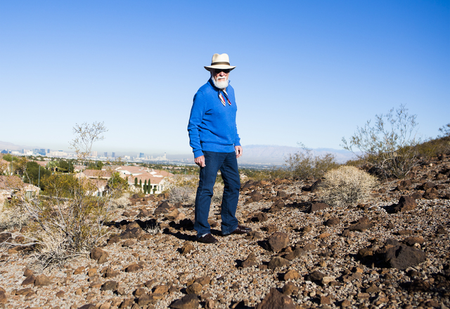 Author and motivational speaker Douglas Cox stands on hill behind his Henderson home on Wednesday, Nov. 30, 2016. (Jeff Scheid/Las Vegas Review-Journal) Follow @jeffscheid
