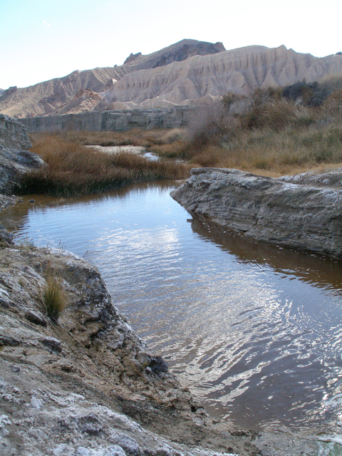 The Amargosa River winds its way through a canyon near China Ranch Date Farm on its way to Death Valley. (Henry Brean/Las Vegas Review-Journal)     CERCA DEATH VALLEY-NOV30-1411/30