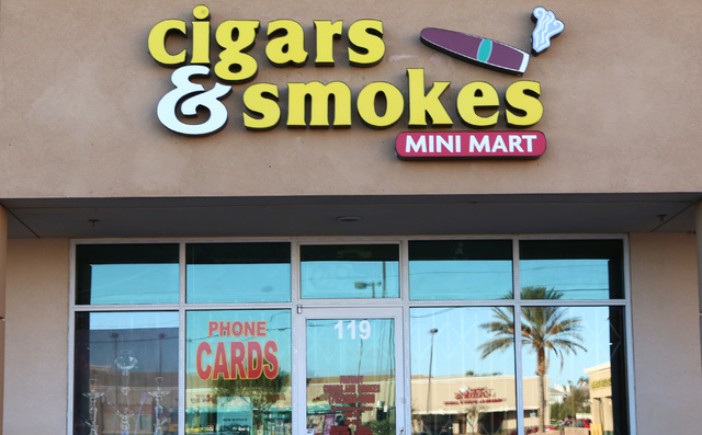 Cigars and Smokes Mini Mart at 8665 W. Flamingo Road is shown on Tuesday, Dec. 6, 2016. A young teen died after a store clerk shot him in the head during an attempted robbery with two other teens  ...