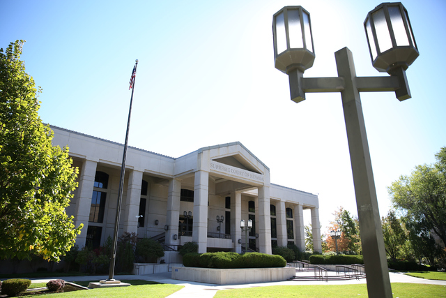 The Nevada Supreme Court building is pictured in Carson City, Nev., Saturday, October 8, 2016. (David Guzman/Las Vegas Review-Journal Follow @davidguzman1985)