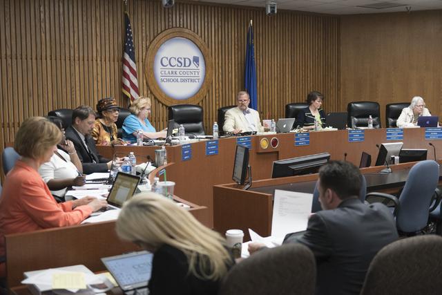 Clark County School District Board of Trustees (Jason Ogulnik/Las Vegas Review-Journal)