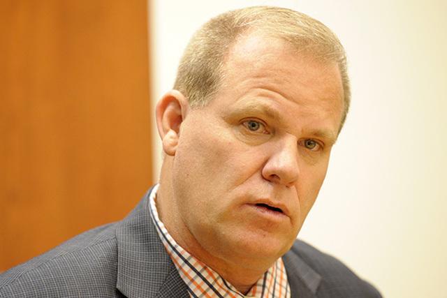 Clark County School District D Trustee Kevin Child, seen in 2014 (Las Vegas Review-Journal)