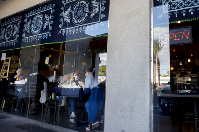 People dine at the Yunnan Tasty Garden, a restaurant in the Las Vegas Asian Plaza, 5115 Spring Mountain Rd, Las Vegas, Friday, Dec. 2, 2016. Elizabeth Page Brumley/Las Vegas Review-Journal Follow  ...