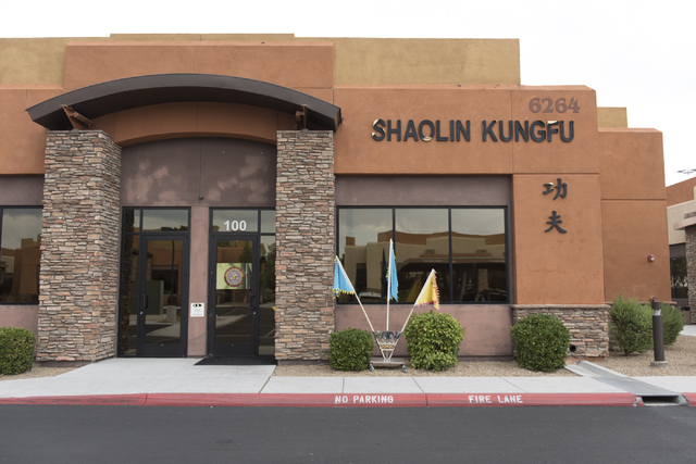 Shaolin Kungfu Chan at  6264 W. Spring Mountain Rd. #100 in Las Vegas is seen Friday, July 29, 2016. (Jason Ogulnik/Las Vegas Review-Journal)