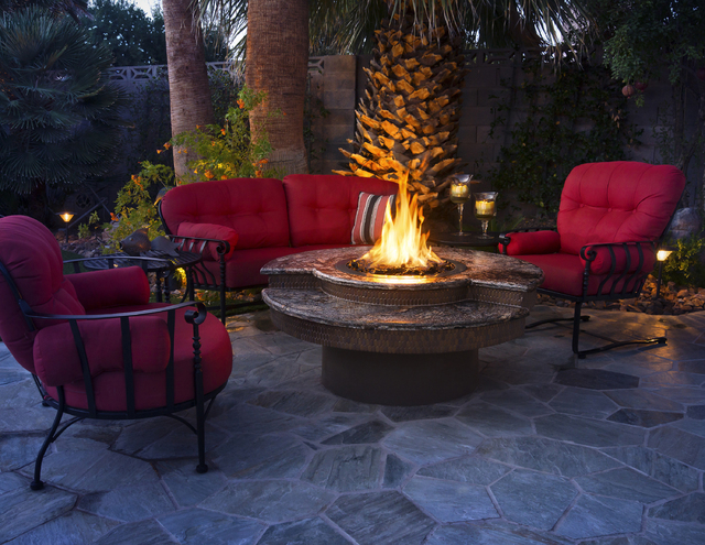 Courtesy Galaxy Outdoor This Table With Center Fire From Allows People To Enjoy A