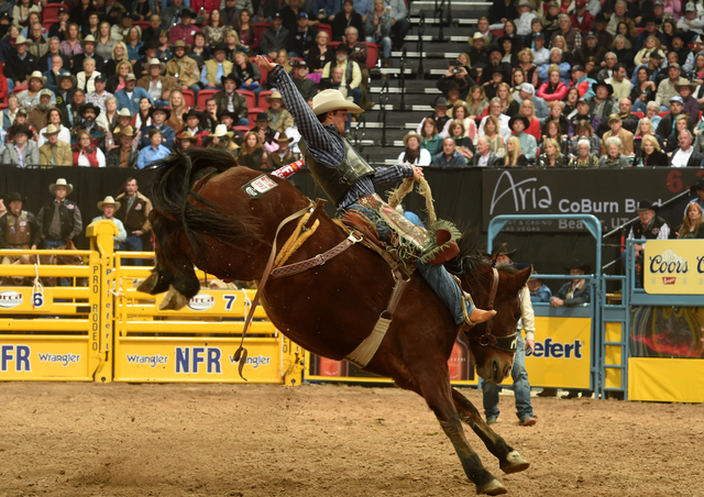 CoBurn Bradshaw, fourth in the saddle bronc world standings heading into Sunday night's fourth go-round of the Wrangler NFR, is married to Rebecca, the sister of Cody, Jesse and Jake Wright.