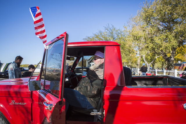 Richard Dike sits in his 69 Ford Bronco during the Cowboy Christmas and Classic Car Show, Sat, Dec. 3, 2016, at Floyd Lamb Park, 9200 Tule Springs Road, Las Vegas. (Elizabeth Page Brumley/Las Vega ...
