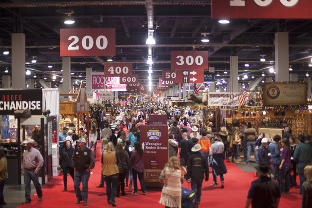 the cowboy christmas gift show in the south halls of the las vegas convention center on