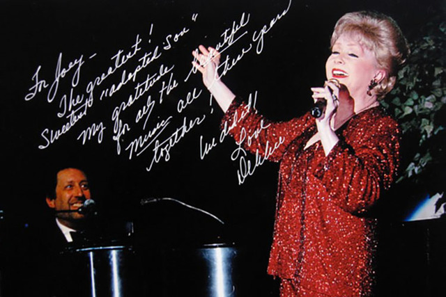 Debbie Reynolds signed this photo for Joey Singer during their long partnership. (Courtesy photo)