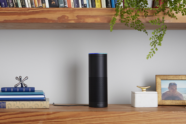 Amazon Echo is hands-free, microphones enabled device.  The Wynn Las Vegas is slated to equip all guest rooms with the device by summer of 2017. (Amazon.com, Inc/Courtesy Photo)