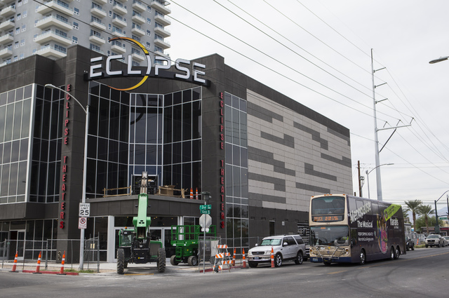 Eclipse Theaters is shown under construction in downtown Las Vegas on Wednesday, Oct. 12, 2016. The theater is slated to open later this month. (Chase Stevens/Las Vegas Review-Journal Follow @csst ...
