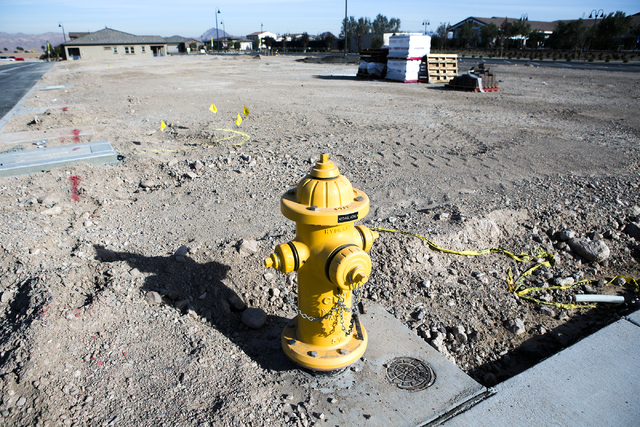 Lots for single family homes at Cadence, a 2,300-acre master planned community, waiting to be developed in Henderson on Tuesday, Dec. 13, 2016. (Jeff Scheid/Las Vegas Review-Journal) Follow @jeffs ...