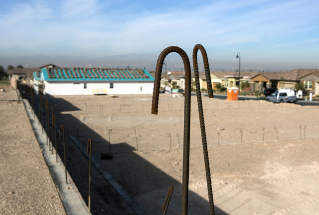 Lots for single family homes at Cadence, a 2,300-acre master planned community, waiting to be developed in on Henderson Tuesday, Dec. 13, 2016. (Jeff Scheid/Las Vegas Review-Journal) Follow @jeffs ...
