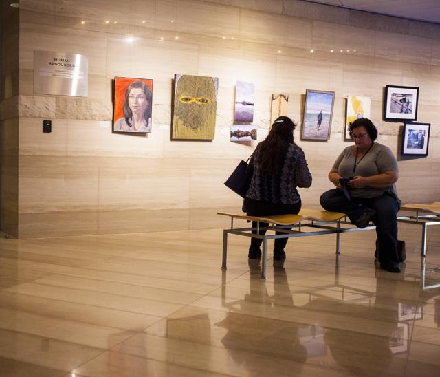 City employee art exhibit at Las Vegas City Hall on Thursday, Dec. 8, 2016. (Miranda Alam/Las Vegas Review-Journal) @miranda_alam