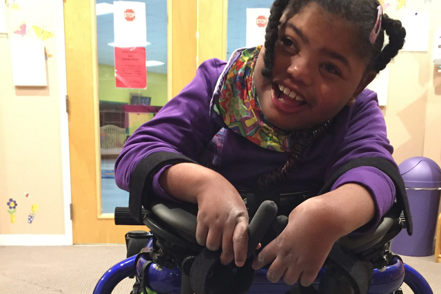 A Clark County jury has awarded $14.5 million in a medical malpractice case involving MayRose Hurst, an 8-year-old girl who suffered a permanent brain injury after her birth. (Courtesy)