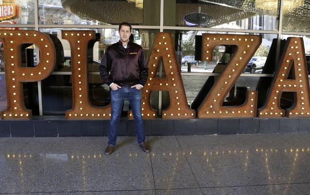 Jonathan Jossel, CEO of the Plaza, is seen outside the hotel-casino on 1 S. Main St. Friday, Dec. 16, 2016, in downtown Las Vegas. (Bizuayehu Tesfaye/Las Vegas Review-Journal) @bizutesfaye