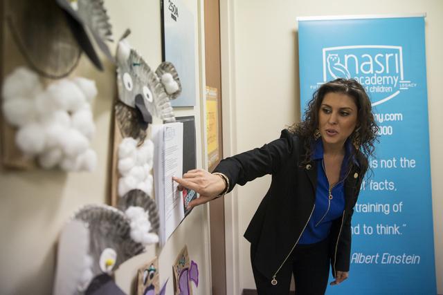 Bita Nasri, founder of Nasri Academy, speaks on the school's mission at Nasri Academy on Wednesday, Nov. 16, 2016, in Henderson. Erik Verduzco/Las Vegas Review-Journal Follow @Erik_Verduzco