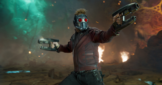 "Star-Lord/Peter Quill (Chris Pratt) appears in a scene from ""Guardians Of The Galaxy Vol. 2."" ©Marvel Studios 2017"