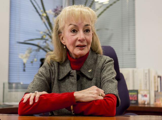 CEO and Founder of Foundation for an Independent Tomorrow, Janet Frasier Bluman, discusses the beginnings of the job training Nevada non-profit in her office at FIT, 1931 Stella Lake St., Tuesday, ...