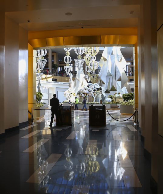 An entrance to the casino floor during a tour of the MGM National Harbor in Oxon Hill, Md. on Monday, Dec. 5, 2016. The $1.4 billion hotel-casino is slated to open Thursday. (Chase Stevens/Las Veg ...