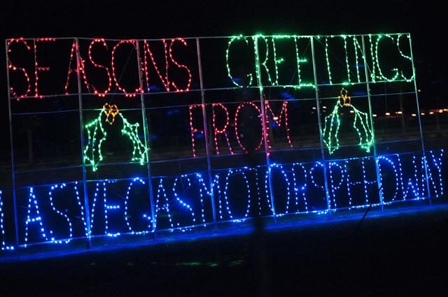 Holiday lights are seen along the Glittering Lights show at the Las Vegas Motor Speedway, Thursday, Nov. 14, 2013. (Erik Verduzco/Las Vegas Review-Journal) Follow @Erik_Verduzco