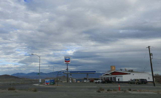 A Chevron stands as one of few commercial buildings in Indian Springs, Nev., on Wednesday, Dec. 21, 2016. Brett Le Blanc/Las Vegas Review-Journal Follow @bleblancphoto
