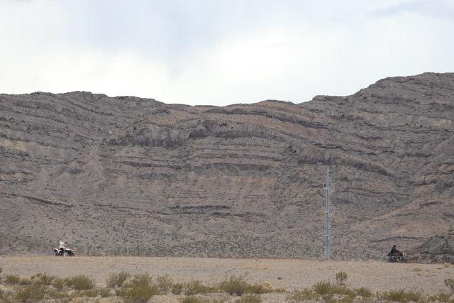 All-terrain vehicles (ATVs) are ridden through the desert in Indian Springs, Nev., on Wednesday, Dec. 21, 2016. Brett Le Blanc/Las Vegas Review-Journal Follow @bleblancphoto