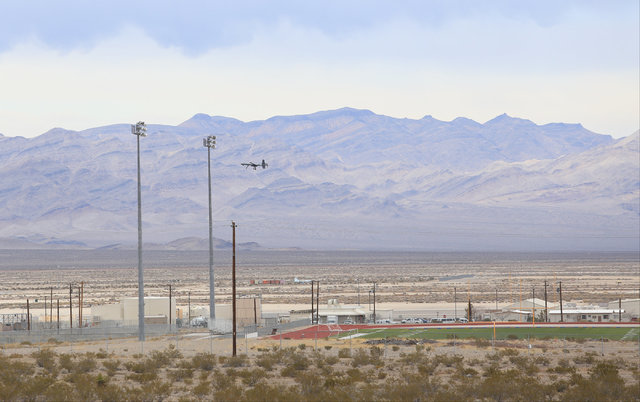 A remotely piloted vehicle takes off from Creech Air Force Base in Indian Springs, Nev., on Wednesday, Dec. 21, 2016. Brett Le Blanc/Las Vegas Review-Journal Follow @bleblancphoto