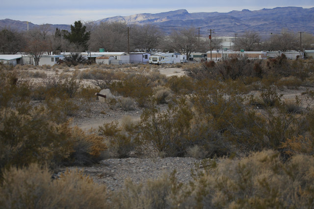 Houses line undeveloped land owned by Beazer Homes in Indian Springs, Nev., on Wednesday, Dec. 21, 2016. Brett Le Blanc/Las Vegas Review-Journal Follow @bleblancphoto
