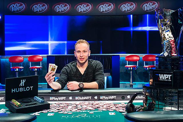 James Romero, 27, of Portland, Oregon, won the Season XV World Poker Tour Five Diamond $10,400 Main Event at Bellagio in Las Vegas. (Courtesy)