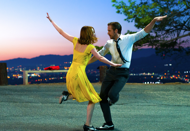 Sebastian (Ryan Gosling) and Mia (Emma Stone) in LA LA LAND. Photo credit: Dale Robinette/Summit