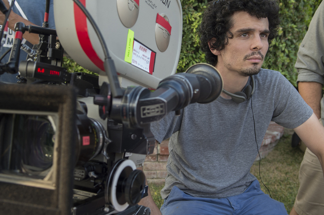 Writer-director Damien Chazelle on the set of LA LA LAND. Photo Credit: Dale Robinette/Summit