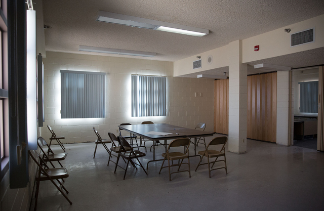 The dining area of Stein Hospital, a closed mental health hospital on the campus of Rawson-Neal Psychiatric Hospital, is photographed Friday, Jan. 23, 2015. The facility is being remodeled and is  ...
