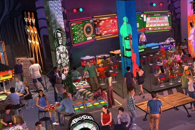 An artist's rendering of the interior of MGM Grand's Level Up area, which opens Dec. 29. (Courtesy MGM Resorts International)