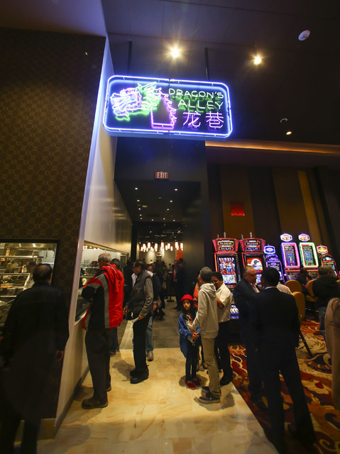 The interior during the grand opening of the Lucky Dragon hotel-casino in Las Vegas on Saturday, Dec. 3, 2016. (Chase Stevens/Las Vegas Review-Journal) @csstevensphoto