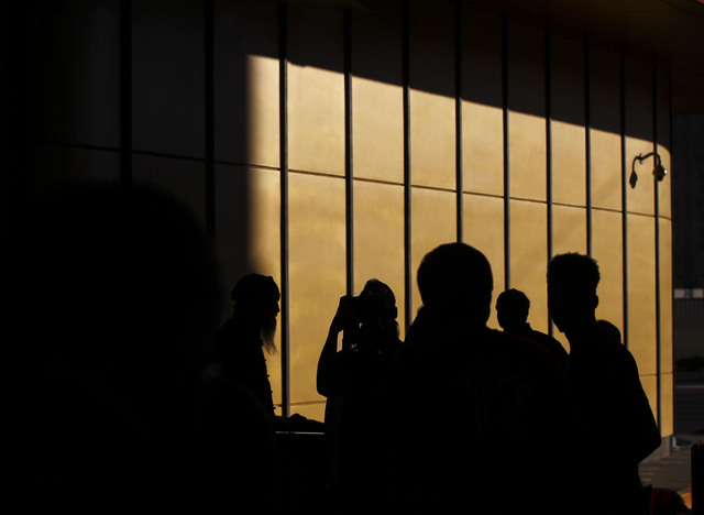 Silhouettes during the grand opening of the Lucky Dragon hotel-casino in Las Vegas on Saturday, Dec. 3, 2016. (Chase Stevens/Las Vegas Review-Journal) @csstevensphoto