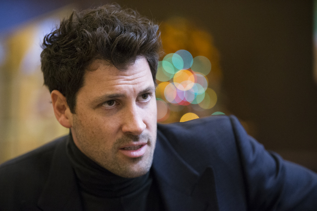 Dance instructor Maksim Chmerkovskiy is interviewed on health and fitness inside the Canyon Ranch SpaClub at The Venetian hotel-casino on Saturday, Dec. 10, 2016, in Las Vegas. (Erik Verduzco/Las  ...
