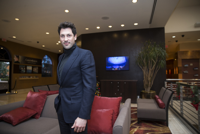 Dance instructor Maksim Chmerkovskiy poses inside the Canyon Ranch SpaClub at The Venetian hotel-casino on Saturday, Dec. 10, 2016, in Las Vegas. (Erik Verduzco/Las Vegas Review-Journal) Follow @E ...